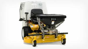 jrco inc broadcast spreader for zero turns model 503 broadcast spreader features a foot controlled gate opening for zero turn mowers