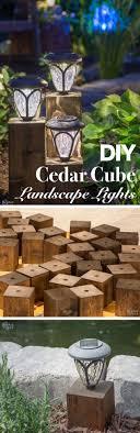 cedar cube landscape lights diy