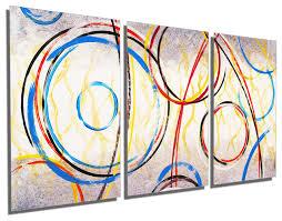 abstract circles art metal print wall