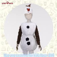 <b>UWOWO</b> Olaf Snowman Cosplay Costume Halloween Child Kid Boy ...