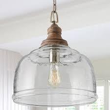 organic rippled glass pendant glass