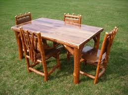 Log Dining Room Tables Good Log Kitchen Table And Chairs Best 5 Rustic Log Dining Room