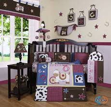 boutique horse western cowgirl crib bedding set 13 pieces