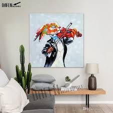 2018 100 hand made crazy rabbit oil painting modern animal square wall art acrylic