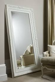 Unique White Leaning Floor Mirror Large Painted In Gloss 400589 Intended Perfect Design
