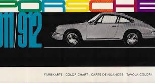 Porsche Color Chart Type 911 912 Classic Driver Market