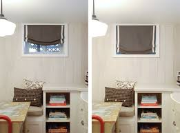 Basement Window Treatment Ideas