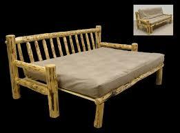 rustic log furniture ideas. rustic log furniture futon couch ideas r