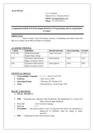 The Incredible Best Resume For Freshers Engineers Resume Resume For Bsc Computer  Science Fresher Doc