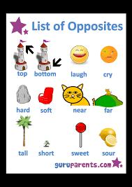 Opposites Worksheets | guruparents