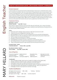 English Resume Samples English Teachers Resume Airexpresscarrier Com