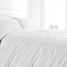 grey and white striped duvet cover. Brilliant Duvet Silver Grey And White Striped Duvet Cover  Soft And T