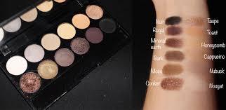 palette au naturel sleek makeup swatches