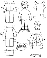 Paper Dolls Coloring Pages Free Printable Paper Dolls For Boys