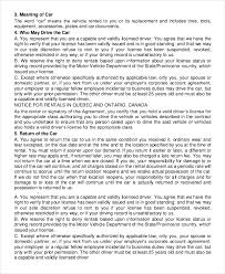 car rental agreement templates sample example format avis car rental agreement pdf format