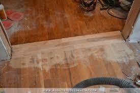 repairing hardwood floor in new doorway 8
