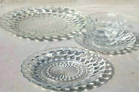 red glass dinnerware clear glass dish set vintage anchor hocking bubble pattern clear depression glass dinnerware anchor dinnerware anchor dinnerware