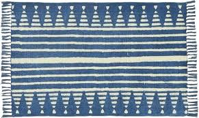 blue and white striped rug runner verso indigo area rugs