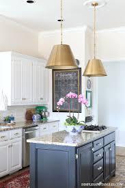 alden brass pendant brass kitchen pendants vintage rug white kitchen black island