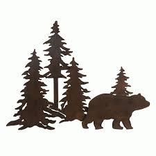 bear forest 3d metal wall art