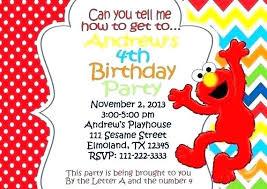 Blank Elmo Birthday Invitations And Sesame Street Birthday