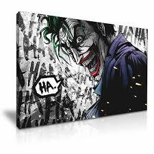 the joker ha dc comics canvas wall art