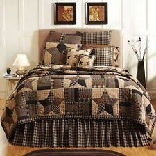 Rustic/Primitive Patchwork Quilts | eBay & 3PC BINGHAM STAR PATCHWORK CALI KING BED QUILT SET BEDDING PACKAGE By VHC  BRANDS Adamdwight.com