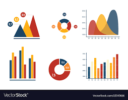 Chart Business Graph And Pie Chart Business Marketing With