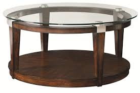 Hammary Solitaire Contemporary Round Coffee Table With Glass Top - Coffee chairs and tables