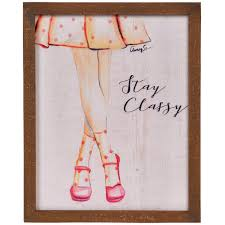 Amazoncom Nikky Home Stay Classy Wood Framed Girls Wall Art Poster