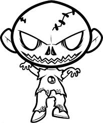 Small Picture Halloween Coloring Pages Zombie Coloring Pages