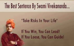 Take Risk In Your Life Motivational Quotes By Swami Vivekananda