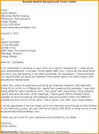 Reception Cover Letter Examples Cover Letter Examples For