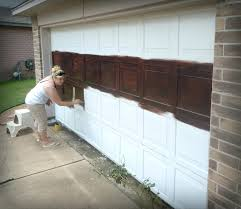 how to paint garage door painting metal garage doors tips door repair made to love faux galvanised steel paint garage door wood look