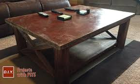 Image Wood Diy Pete How To Make Concrete Coffee Table With Trowel Finish