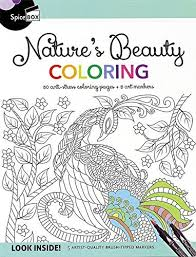 Amazoncom Natures Beauty Coloring 50 Anti Stress Coloring Pages