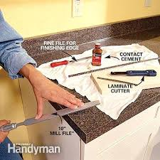 how to trim laminate countertop edges photo