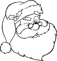 santa claus face coloring page. 12 Santa Claus Face Coloring Cartoon 15 13 Portrait Page In