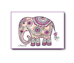 paisley elephant wall art