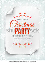 paper flyer christmas party invitation poster flyer brochure stock vector