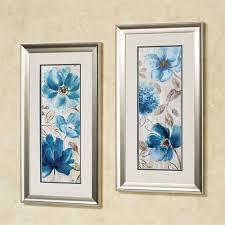 blue garden floral framed wall art set of two on set of two framed wall art with blue garden floral framed wall art set