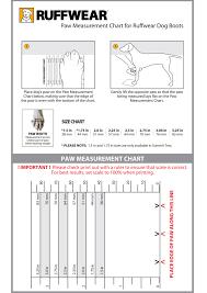 Ruffwear Harness Size Chart Ruffwear Paw Measurement Chart Coastal Sports