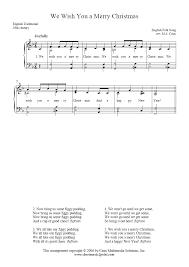 We Wish You A Merry Christmas - Sheetmusic2print.com