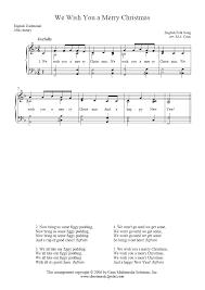 We Wish You A Merry Christmas - Sheetmusic2print.com