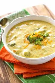 panera s broccoli cheddar soup in a white bowl