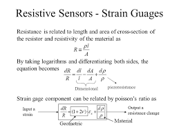 resistive sensors strain guages