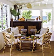 dining room beach style sunroom dining room ideas with rattan furniture also round table and
