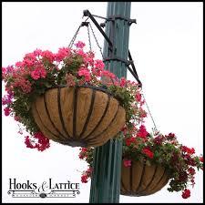 amazing hanging planter outdoor basket bracket flower lamp post to enlarge porch diy christma small