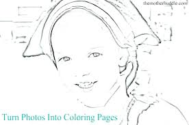 Make A Picture Into Coloring Page Design Turn Photos Pages To Really