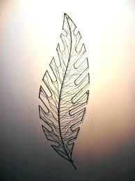 large metal leaf wall art